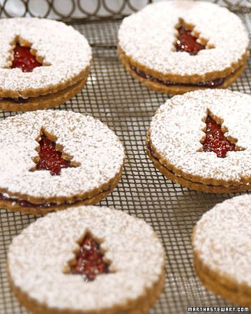 """Linzer sandwiches. """"Serve these linzer sandwiches after dinner for a beautiful and delicious dessert."""""""