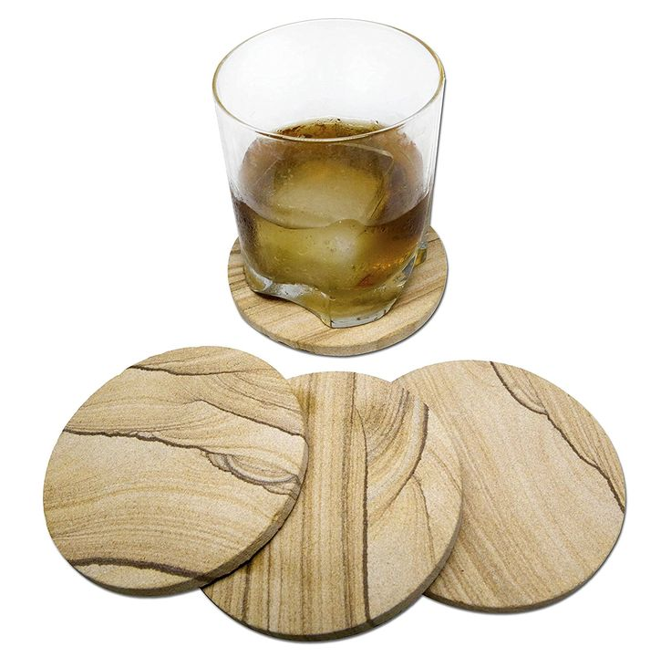 Natural SANDSTONE COASTERS Set - Sandstone is Highly Absorbent. Each Coaster Has a Unique Beautiful Design. The Perfect Coasters For Drinks Absorbing More Water and Moisture. Great Home Furnishing Gifts >> Check this awesome image  : Coasters Home Decor