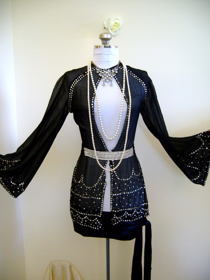 RESERVED Deaccession Authenitic LOIS WILSON Flapper Rhinestone Kimono Jacket Worn In The 1926 Paramount Silent Film The Great Gatsby. $2,199.00, via Etsy.