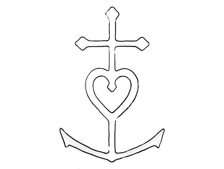 22 Best Faith Hope Love Tattoo Anchor Color Images On Pinterest