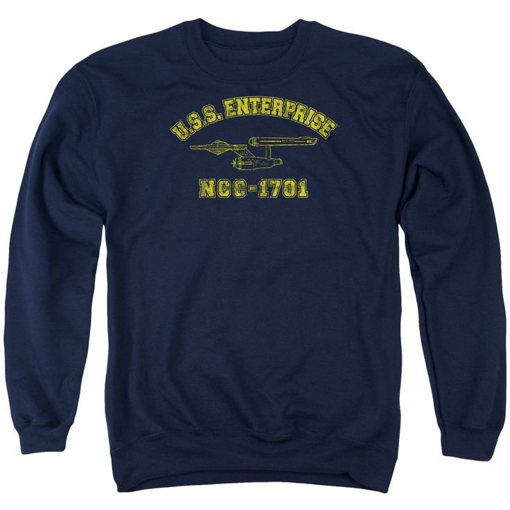 """Checkout our #LicensedGear products FREE SHIPPING + 10% OFF Coupon Code """"Official"""" Star Trek / Enterprise Athletic - Adult Crewneck Sweatshirt - Star Trek / Enterprise Athletic - Adult Crewneck Sweatshirt - Price: $39.99. Buy now at https://officiallylicensedgear.com/star-trek-enterprise-athletic-adult-crewneck-sweatshirt"""