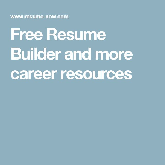 The 25+ best Free resume builder ideas on Pinterest Resume - best resume builder software
