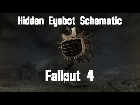 Fallout 4 - Hidden Eyebot Schematic Location - YouTube ... on