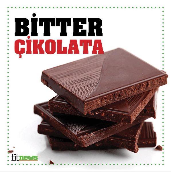 Diyetteyken #tatlı krizlerini en hafif şekilde atlatmak için bir miktar #bitter #çikolata tüketebilirsin. #diyet #fit