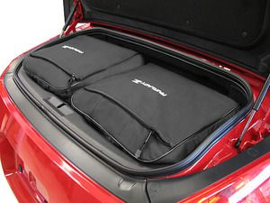 Custom fitted car luggage for the Nissan 350Z maximizes trunk space - saving your car from unsigntly roof racks and cargo carriers