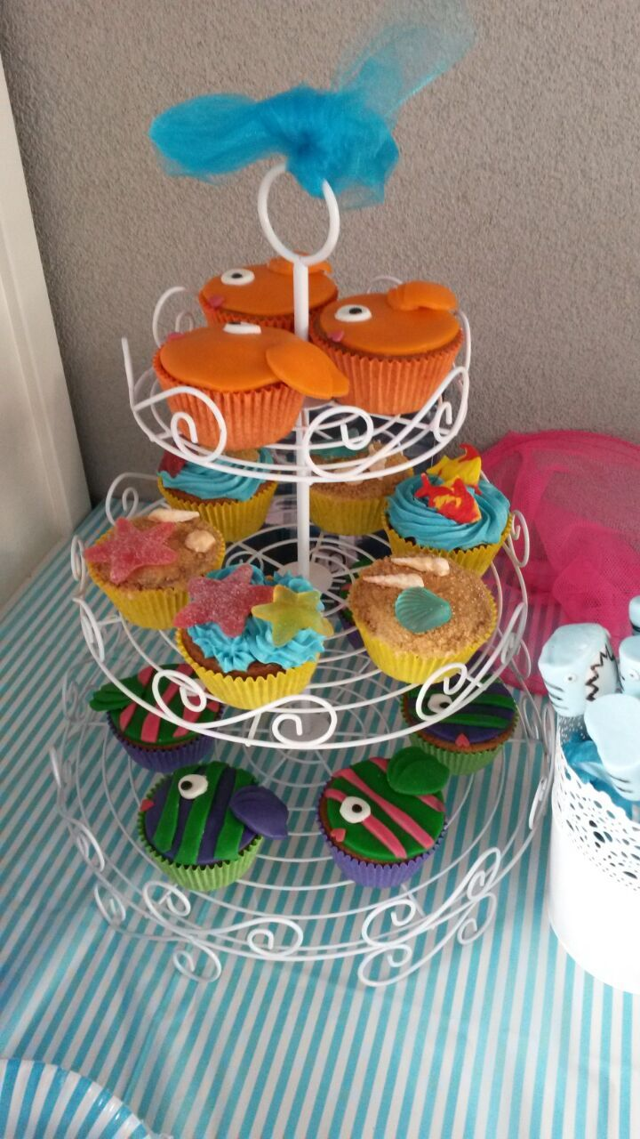Vissen cupcakes! Karlijne van der Vos