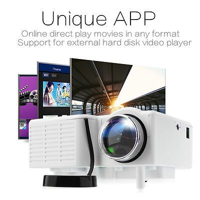 1080P Mini HD LED Projector Home Cinema Theater Multimedia PC USB TV AV HDMI