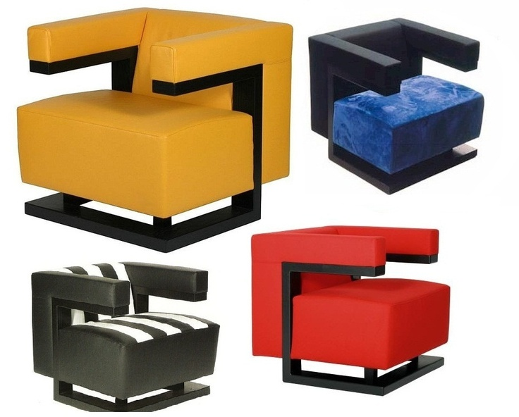 Gropius' famous cubic TECTA Armchair. Comes in various colours; my favourite is the red one for I think it looks best in red and black [second best: yellow].