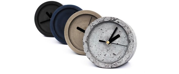 IVANKA Concrete Design | products - Hard Times Table clock