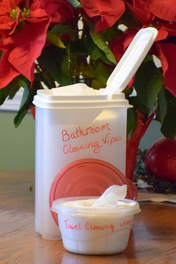 How to make chemical free homemade cleaning wipes in just a matter of minutes from A Proverbs 31 Wife.