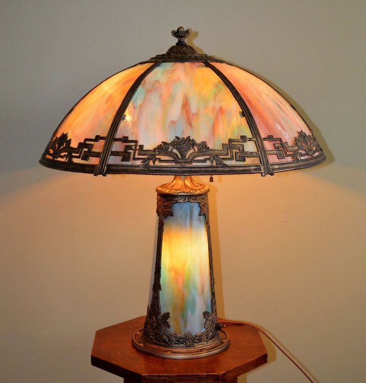 Greatest 16 best Slag glass table lamps images on Pinterest | Glass table  FA78