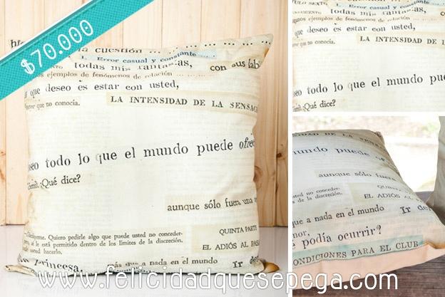 """Cojín """"Letras"""" de nuestra nueva colección"""