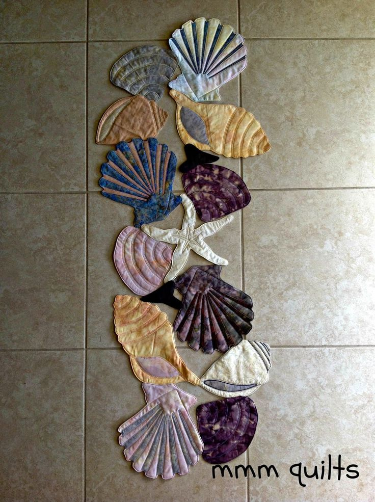 Quilted Seashell Table Runner By Sandra Musings Of A