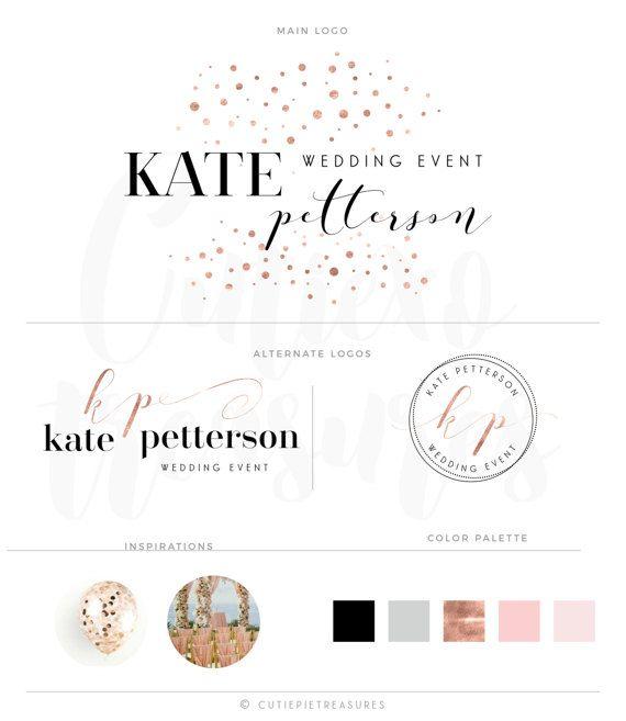 Branding kit Watercolor Logo Design Custom by CutiexoTreasures