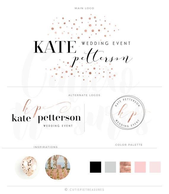 Branding kit Watercolor Logo Design Custom by CutiexoTreasures