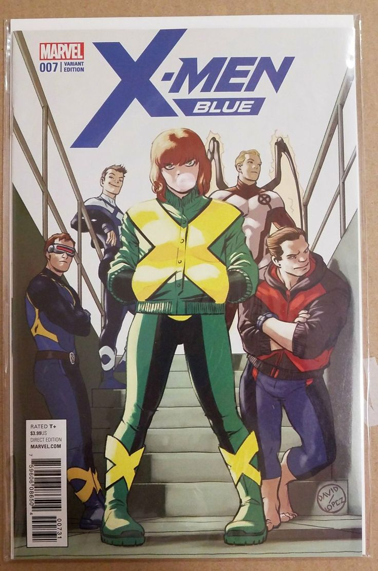 Marvel Comics X-Men Blue #7 Lopez Secret Wars Tie In  1:25 Retailer Limited Bid Variant . Bagged and Boarded High Grade 9.6-9.8. Sept 2017   Set in A 4 Mil MyLite Mylar Bag with 2 extender inserts and acid free half back.  High Grade 9.6-9.8  All photos are of item you will receive. All New comics are unread Dist Direct and are backed by our 100% satisfaction guarantee. If We wouldn't buy it we won't sell it...  Ships priority rush within 24 hrs included in price.