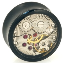 Time Tunnel Ear Gauge Body Jewelry  Fascinating gauges with steampunk appeal