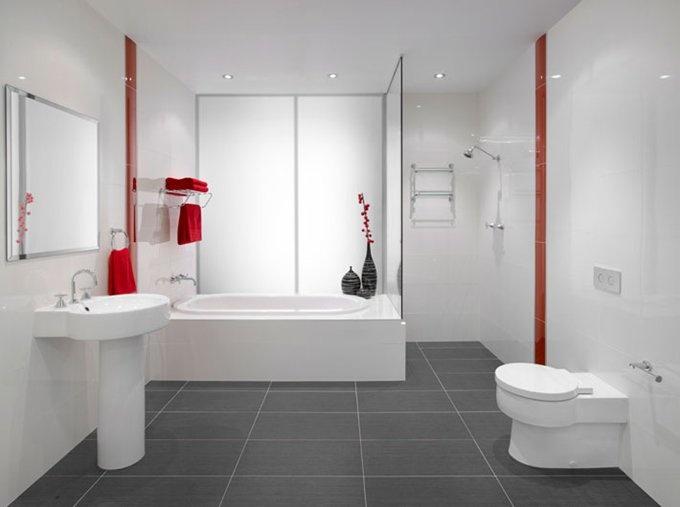 Art Exhibition White and gray bathroom colour scheme