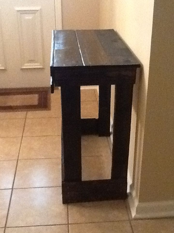 Awesome Foyer Table I Made Out Of Pallet Wood
