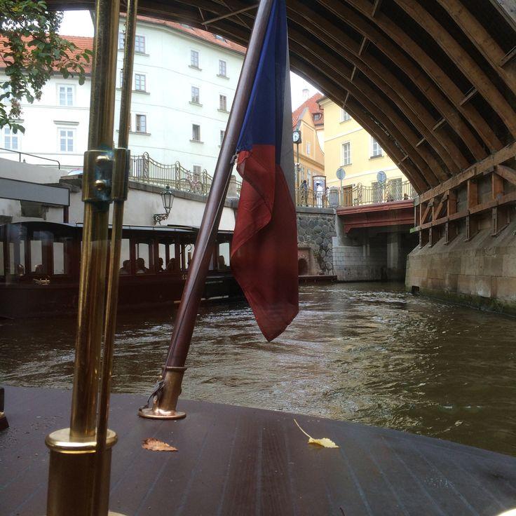 River cruise, Vltava river, Prague