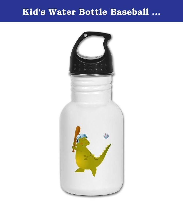 Kid's Water Bottle Baseball Playing Dinosaur. Product Number: 0001-1516320193 Perfect for school lunches or soccer games, our kid's stainless steel water bottle quenches children's thirst for individuality. Personalized for what kids love, it's both eco-friendly and compact. Made of 18/8, food-grade stainless steel. * No lining & no BPA or other toxins * Wide mouth for easy drinking * Durable, BPA-free & phalate-free screw-on top * Holds 0.35L (nearly 12 ounces) * Thin profile to fit most...
