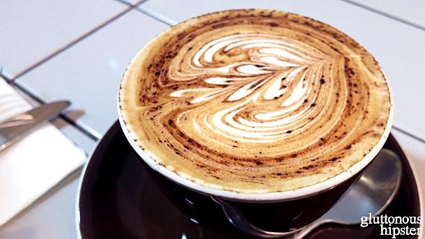 Latte art at Reuben Hills
