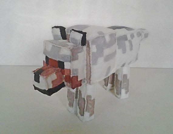 Peluche de Minecraft de lobo / Minecraft wolf plush