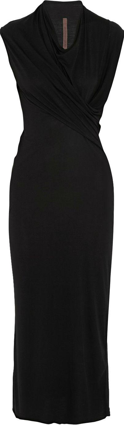 Rick Owens ● midi length  wrap dress