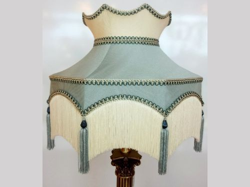 Best 25 cream lamps ideas on pinterest transitional spoons luxury handmade dorchester duck egg and cream lamp shade featuring in programmes such as downton abbey mozeypictures Choice Image