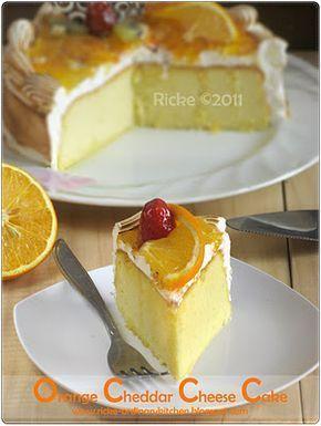 Just My Ordinary Kitchen Orange Cheddar Cheese Cake Ricke
