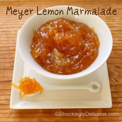 Meyer Lemon Marmalade on Shockingly Delicious. Recipe here: http://www ...
