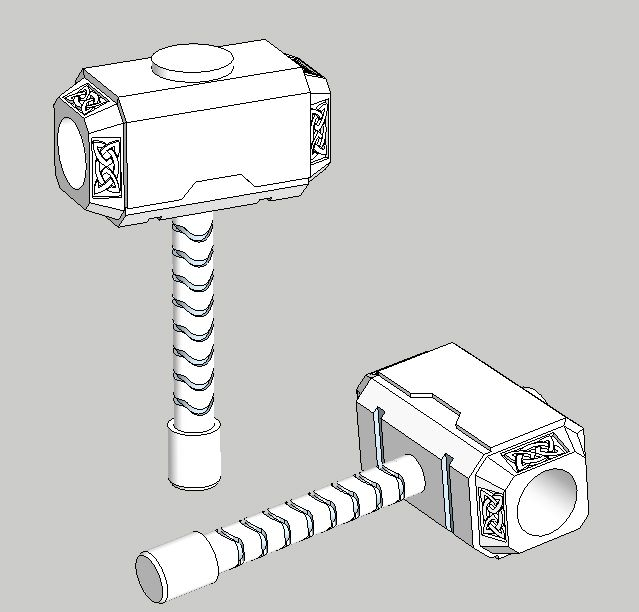It's just a picture of Clever Thor Hammer Drawing