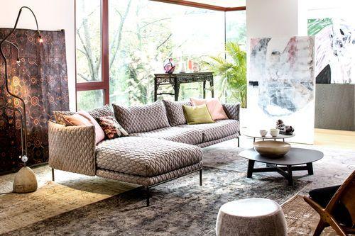 Modul-Sofa / modern / für Innenbereich / Leder GENTRY  MOROSO