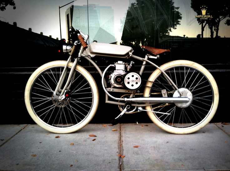 The Grey motorized bicycle boardtracker / moped by imperialcycles, $2,975.00