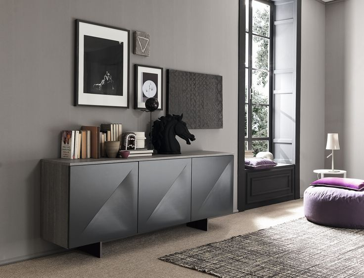The SMA Genesis sideboard  A dramatic slash across each of the cupboard fronts, which also act as a handles, sets this sideboard apart.  Stylish. £1,450 www.gomodern.co.uk