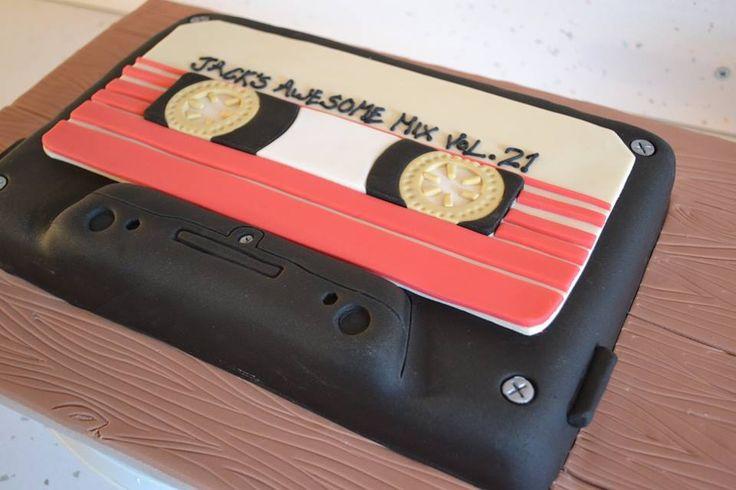 Guardians of the Galaxy mix tape cake www.facebook.com/cakesbycherrypiesheffield
