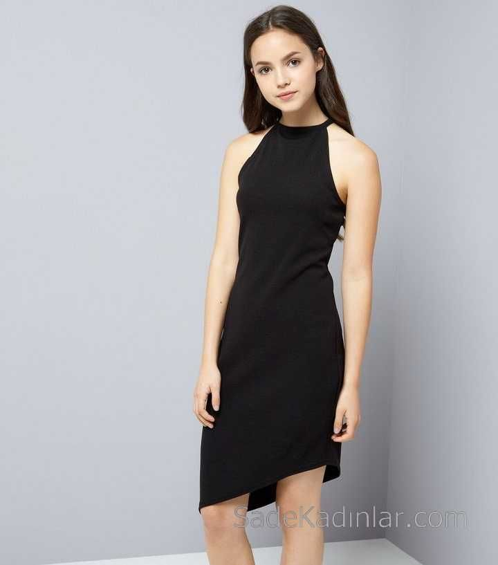 2020 Cocuk Abiye Elbise Siyah Asimetrik Kesim Halter Yaka Kiz Cocuk Elbise Elbise Sirin Elbiseler The Dress