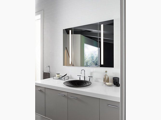 Illumine Dual Stainless Steel Medicine Cabinet With Lighted Mirror: 258 Best Mirrors Images On Pinterest