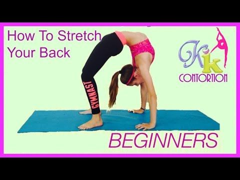 Stretching exercises Back flexibility BEGINNERS/Растяжка спины, Мостик, затяжка, кольцо - YouTube