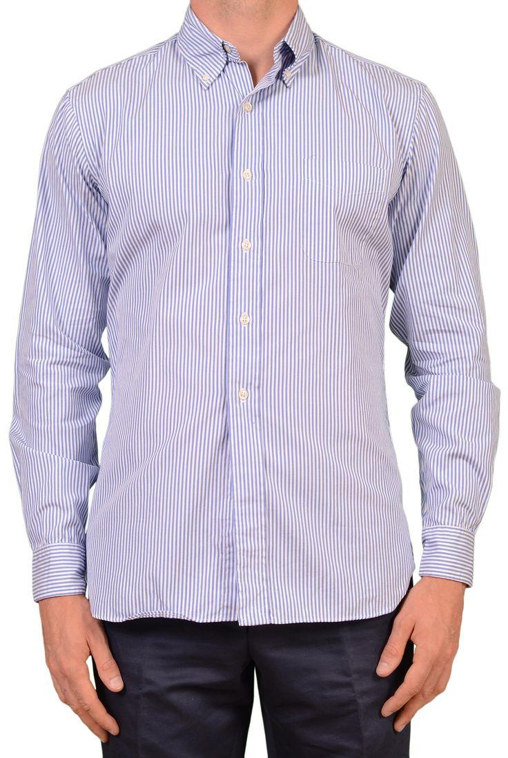 UNIONMADE KENNETH FIELD Blue Striped Cotton Dress Shirt EU 15.5 NEW US 39