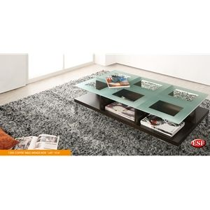 1250 Coffee Table Wood With Glass By Esf