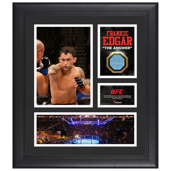Frankie Edgar Ultimate Fighting Championship Fanatics Authentic Framed 15'' x 17'' Collage with Piece of Match-Used Canvas from UFC FIGHT NIGHT Edgar vs Swanson - $69.99