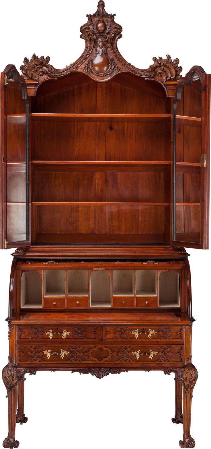 A Victorian Mahogany Secretary Bookcase, circa 1865. 106 inches | LotID #53043 | Heritage Auctions