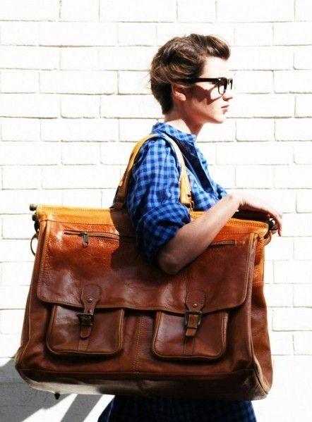 leather bag  photo