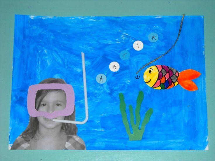 Κάνουμε τις βουτιές μας με χρώμα! Μάσκα στο βυθό από τη Νάγια μας! #craft #fish #underwater #seaworld #kids
