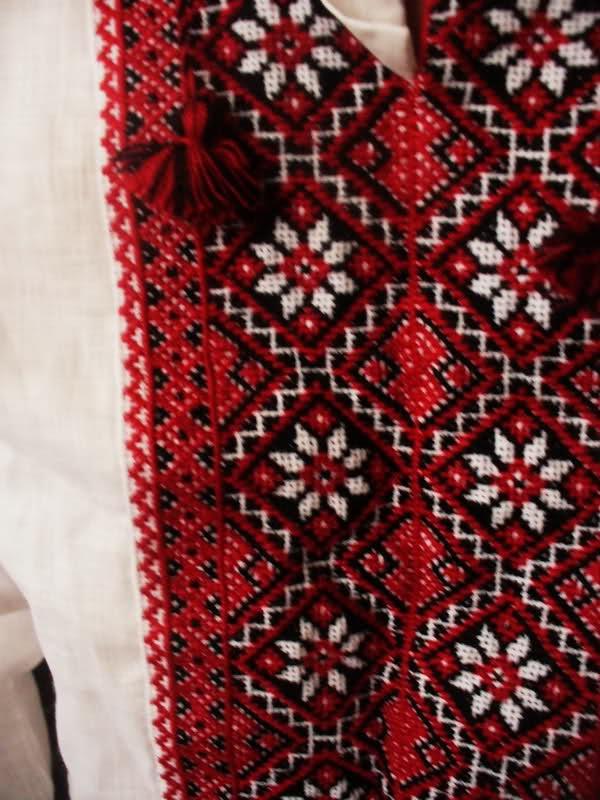 New Ukrainian Embroidery Linen Men Linen SHIRT