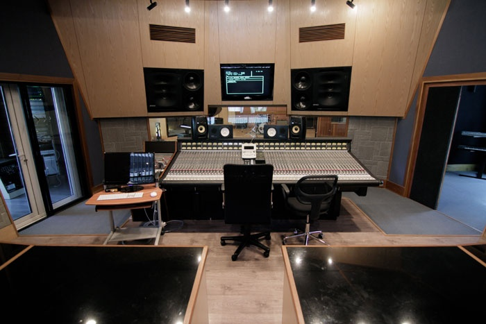 The Karma control room is centred around the SSL 4056 E/G+ console