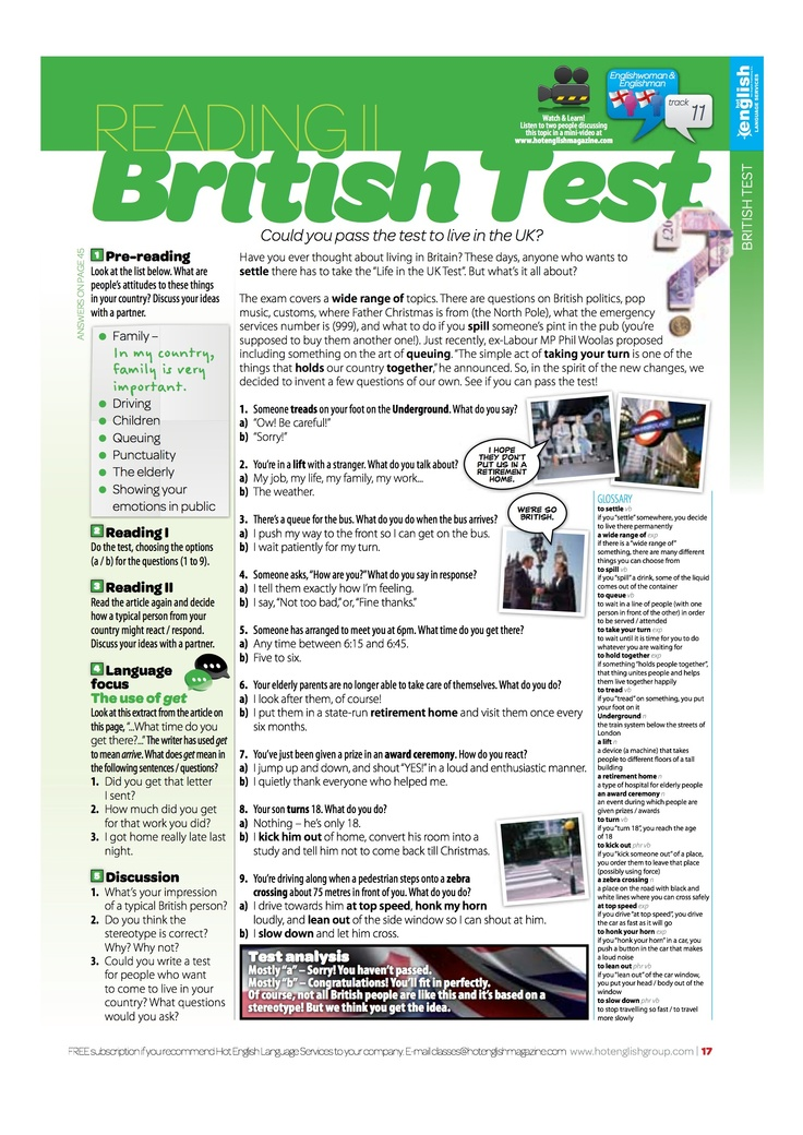 Want more FREE Hot English lessons? Download our APP and get a FREE 16-page sample issue! www.hotenglishmagazine.com