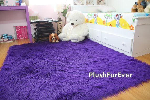 Purple Fur Rug Roselawnlutheran