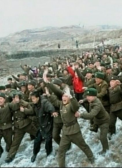 "1953- Fighting ceases on the Korean peninsula, but North Korea maintains a million-man army & hysterical anti-imperialist propaganda nonetheless, severely draining its economy. In the 1960s, research for a nuclear bomb will begin. When he is named supreme commander in 1991, Kim Jong-il will formulate a ""military first"" political policy."